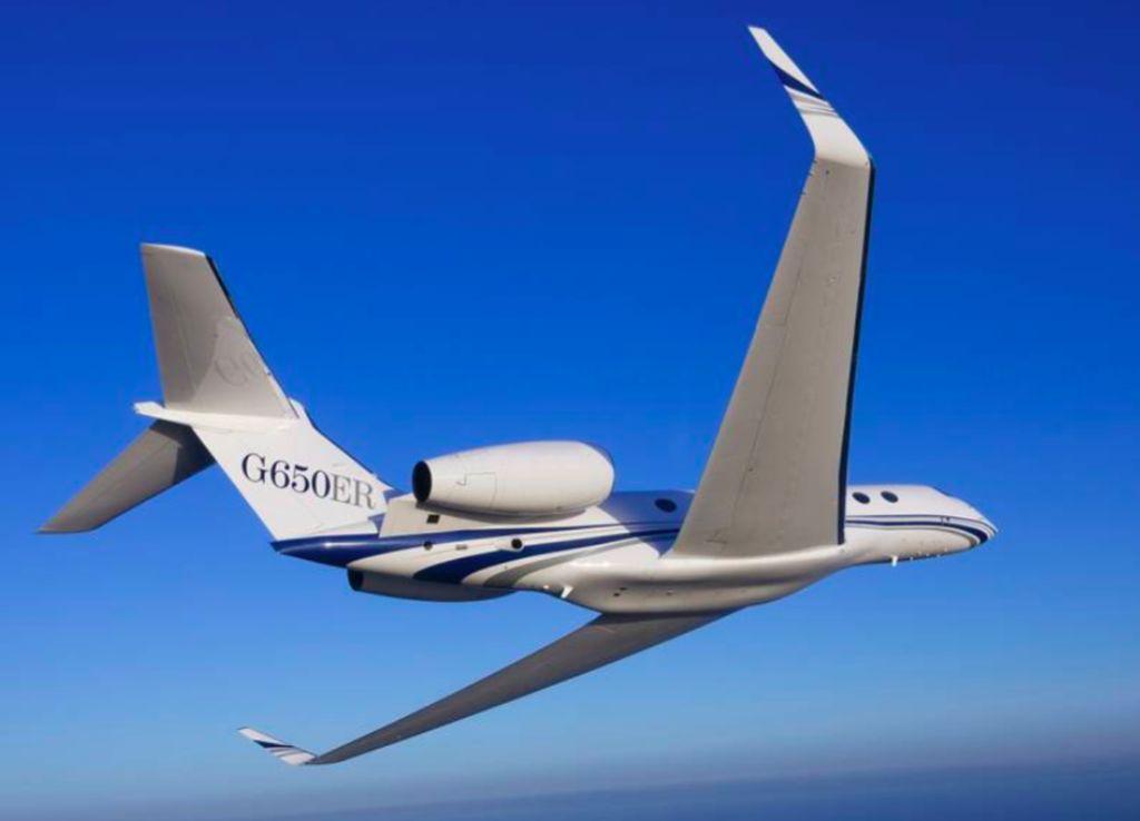 Gulfstream G650ER adalah pesawat bisnis mesin ganda yang diproduksi oleh Gulfstream Aerospace. Foto: Gulfstream