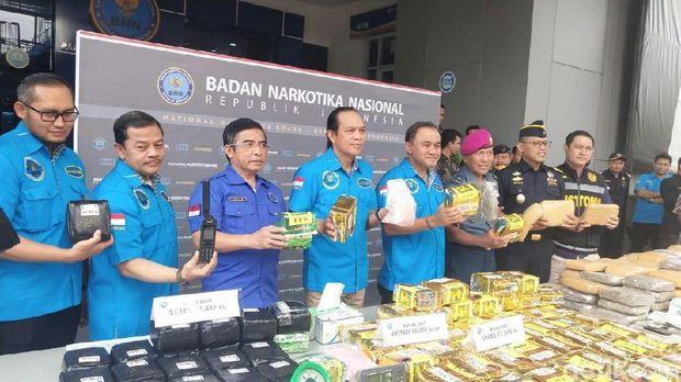 Jumpa Pers di Kantor Pusat BNN, Cawang, Jakarta Timur