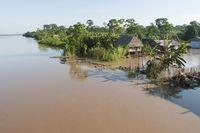 Rumah-rumah suku Guarani (iStock)