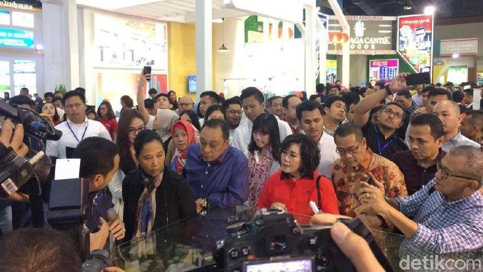 Menteri BUMN Rini Soemarno di Indonesia Property Expo 2019/Foto: Puti Aini Yasmin