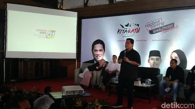 Erick Thohir: Milenial Percaya Program Jokowi