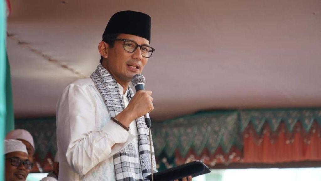 Heboh Hakim Pose 2 Jari, Sandiaga Singgung Kepala Daerah Pose 1 Jari