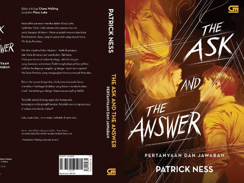 Novel The Ask and The Answer Patrick Ness Terbit di Indonesia Maret