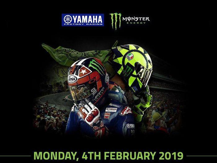 Valentino Rossi dan Maverick Vinales akan meluncurkan motor baru Yamaha untuk MotoGP 2019 di Jakarta (Instagram @yamahamotogp)
