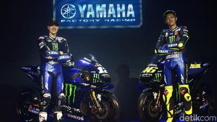 Valentino Rossi mengungkapkan keinginan agar anaknya juga jago balapan motor.  (Grandyos Zafna/detikSport)