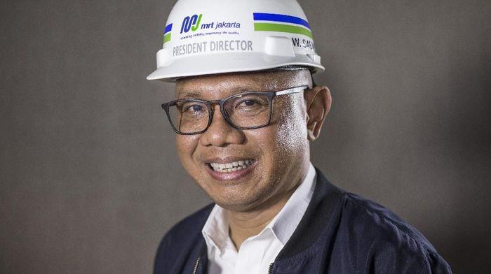 Dirut MRT Jakarta William Sabandar. Foto: Ari Saputra/detikFoto