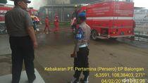 Video Kebakaran di Kawasan Pertamina di Balongan
