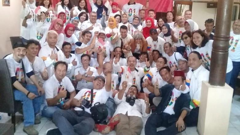 Relawan Alumni SMA 47 Deklarasi Dukung Jokowi