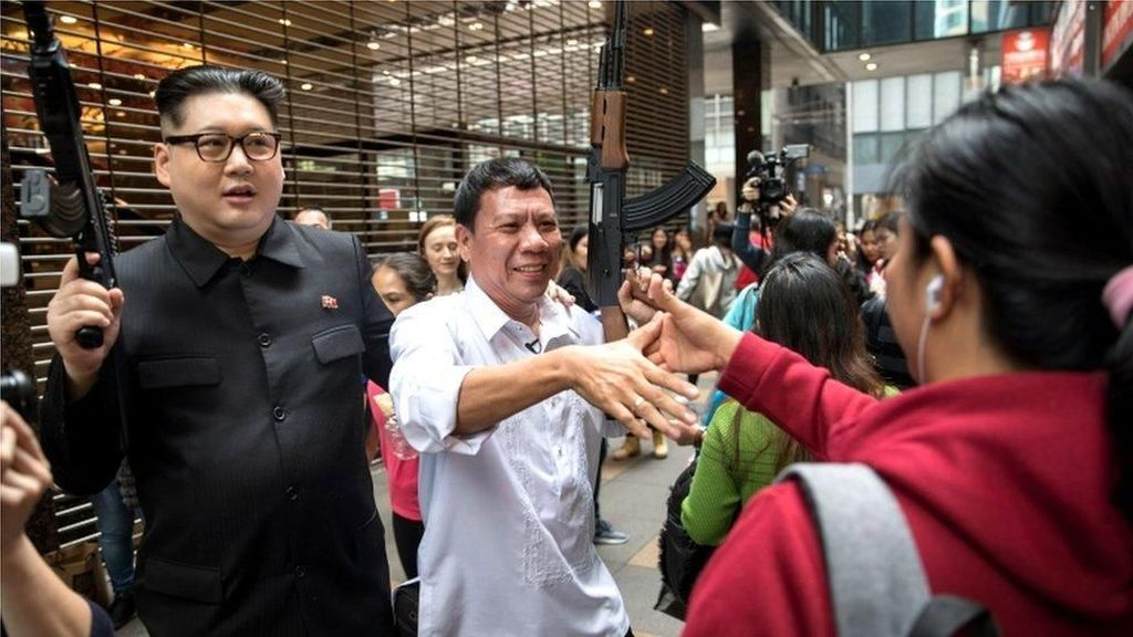 Saat Rodrigo Duterte dan Kim Jong-Un Hebohkan Warga Hong Kong