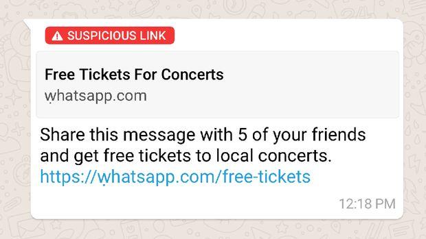 WhatsApp Bisa 'Endus' Tautan Mencurigakan, tapi Tetap Waspada