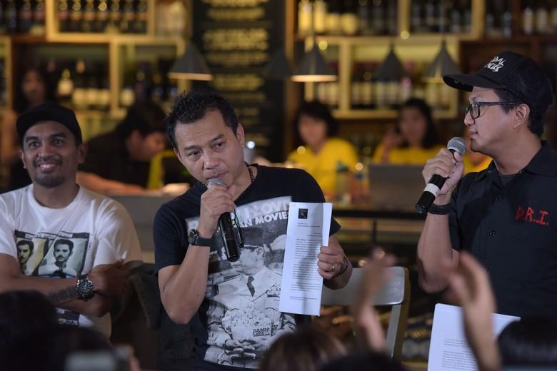 Glenn Fredly, Anang dan Wendi Putranto dalam diskusi di Cilandak Town Square, Senin (4/2/2019). Foto: Noel/detikHOT