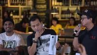 Anang Hermansyah bertemu dengan kelompok musisi yang menolak RUU Permusikan. Foto: Noel/detikHOT