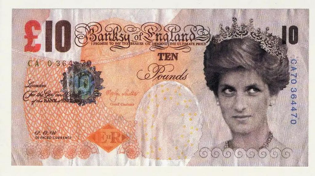 Karya Seni Uang Kertas Palsu Banksy Siap Mejeng di Museum Inggris