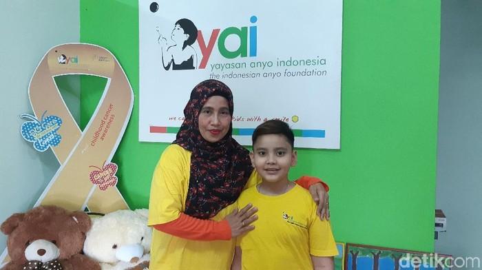 Barkah Utama, anak penyintas leukemia. Foto: Aisyah Kamaliah/detikHealth