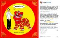 Selamat Imlek! Simak Pesan-pesan dari Presiden Jokowi