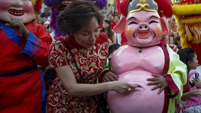 Ilustrasi Imlek Tahun Babi. Foto: BBC World