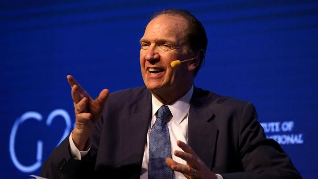FILE PHOTO: David Malpass, Under Secretary for International Affairs at the U.S. Department of the Treasury, gestures during the 2018 G20 Conference entitled