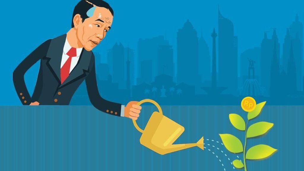 5 Tahun Pertama Berkuasa, Jokowi Gagal Capai Target Pertumbuhan
