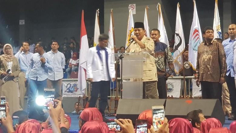 Prabowo: Ada yang Bilang Saya Tak Ngerti Ekonomi, Saya Bisa Baca Angka