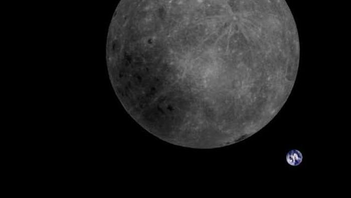 Gambar sisi terjauh Bulan. Foto: Dwingeloo Radio Telescope