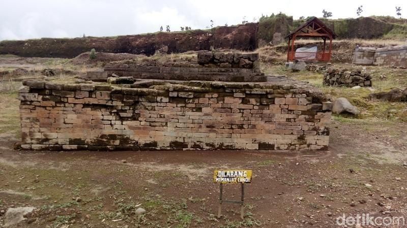 Situs Liyangan berada di lereng Gunung Sindoro. Untuk sampai lokasi dari Kota Temanggung perjalanan ditempuh sekitar satu jam (Eko Susanto/detikTravel)