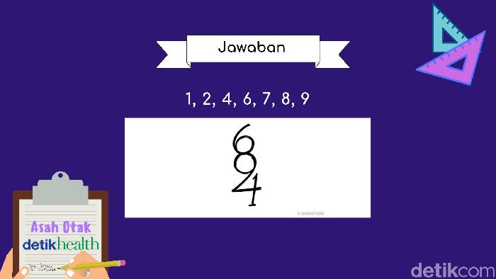 Apakah kamu menemukan angka lain selain 1, 2, 4, 6, 7, 8, dan 9 ? (Foto: detikHealth)
