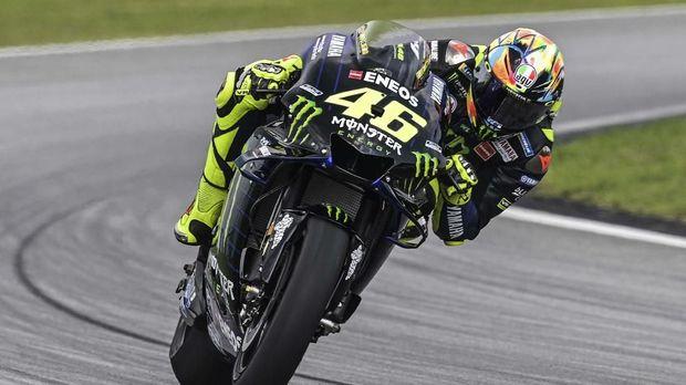 Valentino Rossi berada di urutan keempat tes pramusim MotoGP 2019 di Qatar. (