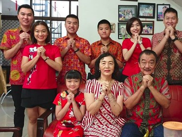 Perayaan tahun baruImlek jatuh pada tanggal 5 Februari 2019. Di Indonesia, keluarga besar biasanya berkumpul di rumah anggota keluarga tertua. (Foto: Instagram @rosan1209)