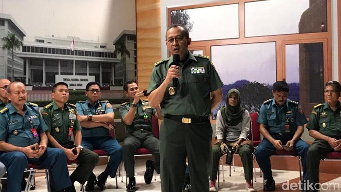 Foto: Kapuspen TNI Mayjen Sisriadi (Rolando/detikcom)