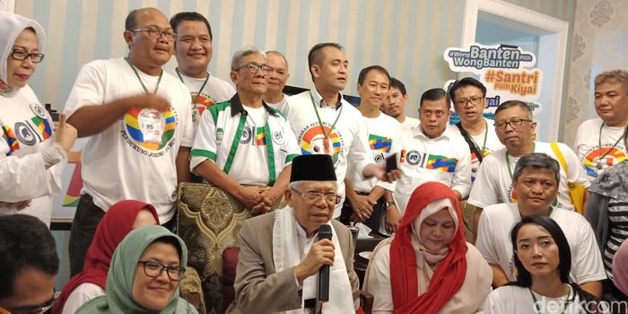 Gerakan Alumni ITB dan UPN mendukung Jokowi-Maruf Amin. (Eva Safitri/detikcom)