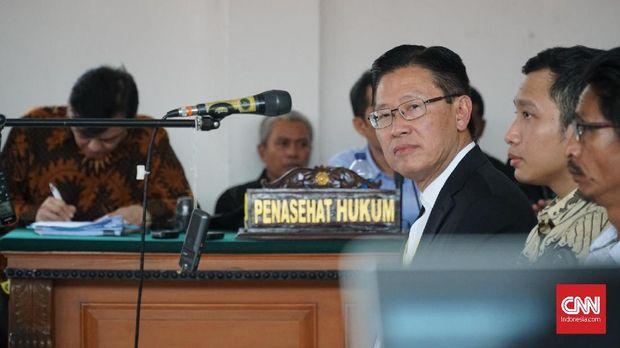 Bos Lippo Group James Riyadi sempat diperiksa menjadi saksi kasus Meikarta di Pengadilan Tipikor, 6 Januari.