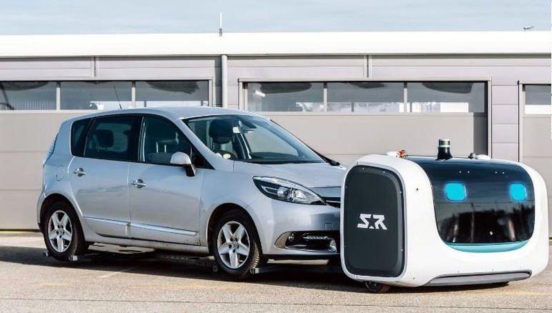 Robot Stan dibuat oleh Stanley Robotics, perusahaan teknologi yang berbasis di Paris, Prancis. Robot cerdas ini akan bekerja secara otomatis untuk mencarikan spot parkir buat mobil traveler. (Stanley Robotics)