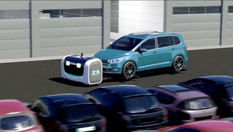 Stan dilengkapi dengan semacam dongkrak dan roda. Stan akan membawa mobil traveler menuju ke spot parkir yang tersedia. Jadi kamu tidak perlu repot-repot mencari parkir lagi. (Stanley Robotics)
