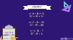Kemampuan mengerjakan soal matematika sangat berhubungan dengan fungsi otak. Kerjakan soal ini dan buktikan kalau kamu belum mengantuk!