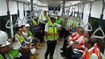Giliran Ketua OJK dan Bos Perbankan Jajal MRT Jakarta