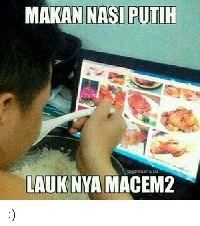 Makan Super Irit ala Netizen, Nasi Plus Lauk untuk Dicium Saja!