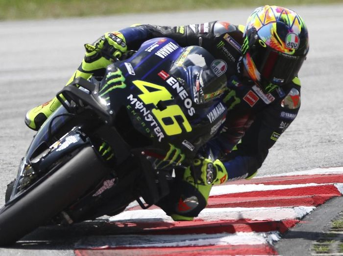 Rider Yamaha, Valentino Rossi. (Foto: Vincent Phoon/AP Photo)