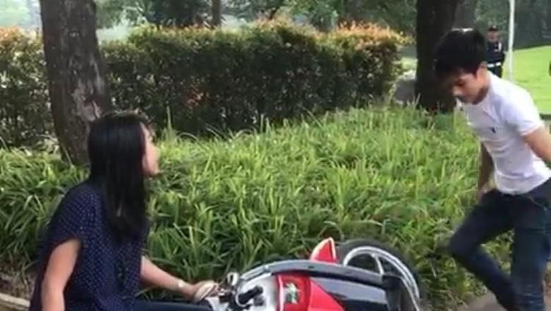 Adi Saputra yang Mengamuk Banting Motor Diamankan Polisi