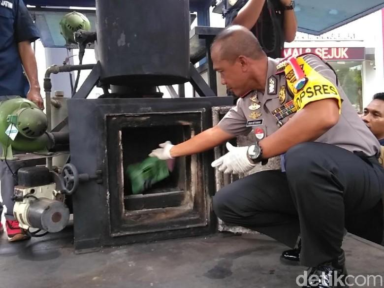 Sabu 4 Kg dan 7 Ribu Pil Ekstasi Dimusnahkan Polrestabes Surabaya