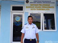 Kepala Satuan Pelayanan Bandara Wiriadimata Tasik, Masrukhin (Masaul/detikTravel)