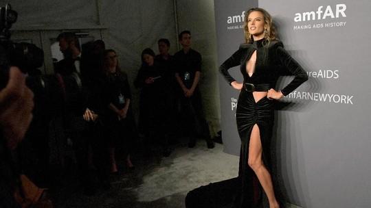 Alessandra Ambrosio Sexy in Black