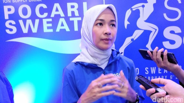 Alya Rohali memiliki tips tersendiri dalam memilih hijab saat berolahraga. Foto: Widiya Wiyanti/detikHealth