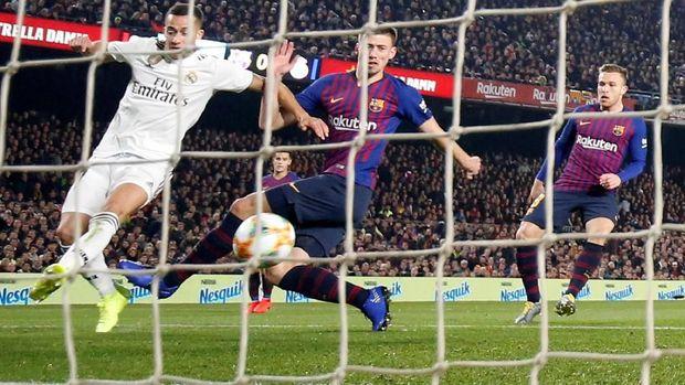 Barcelona ditahan imbang Real Madrid 1-1 di leg pertama Copa del Rey. (