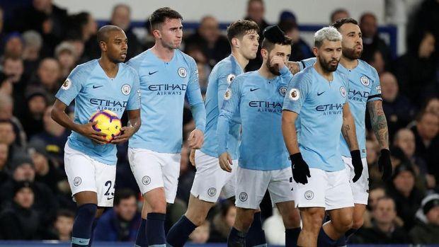Manchester City merebut posisi puncak klasemen sementara Liga Primer Inggris 2018/2019. (