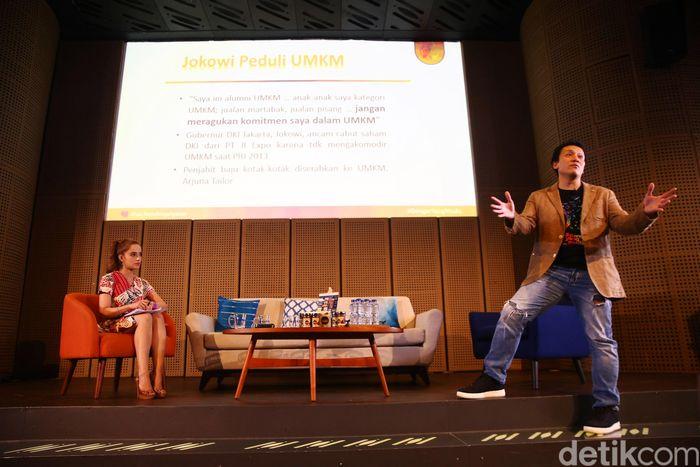 Diskusi bertajuk Dengar yang Muda berlangsung di Galeri Indonesia Kaya, Jakarta, Kamis (7/2/2019).