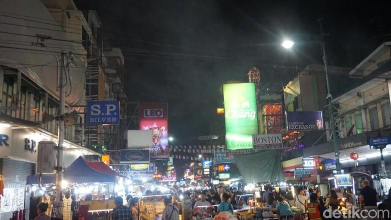 Suasana di Khao San Road (Shinta/detikTravel)
