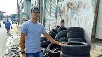 Keren! Seniman Muda Ini Temukan Cara Unik Mengolah Ban Bekas