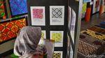Keren! Beragam Motif Batik Karya Siswa SD Dipamerkan