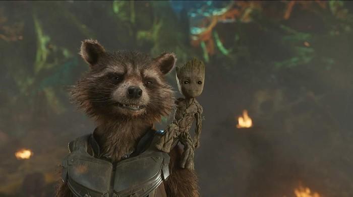 Rocket Raccoon dan Groot di film Guardian of the Galaxy. (Foto: Dok. Marvel Studio)