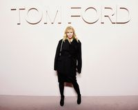 Courtney Love di fashion show Tom Ford saat New York Fashion Week tahun lalu.